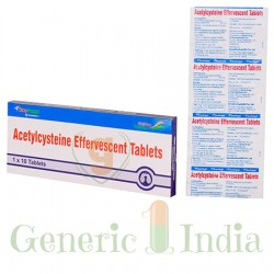 ACETYLCYSTEIN 600 MG EFFERVESCENT TABLETS
